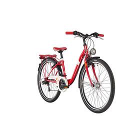 s'cool chiX 26 21-S Lapset nuorten pyörä steel , punainen